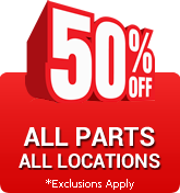 50% Off All Parts - Phoenix location only