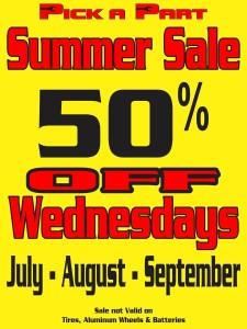 50% Off Sales